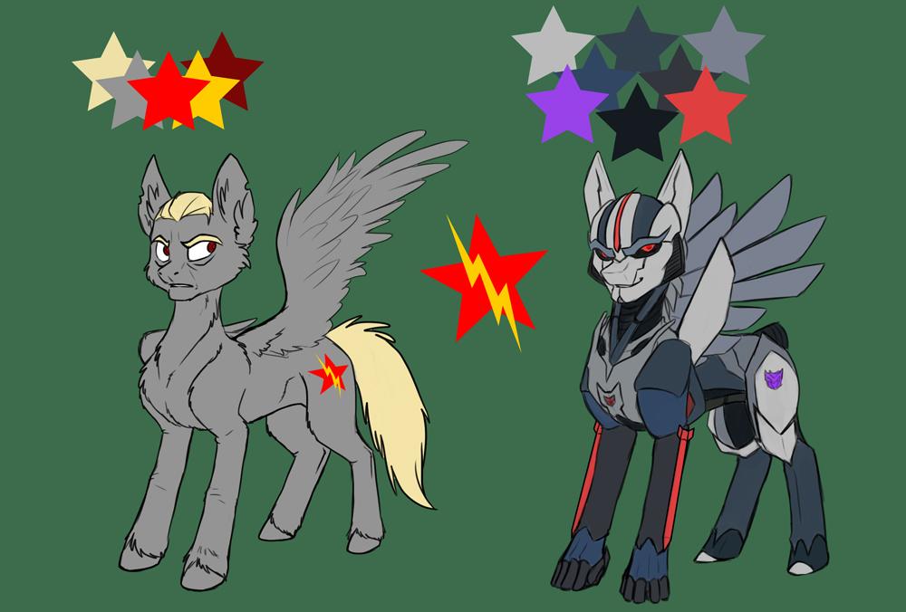 Starscream Pony mini refsheet