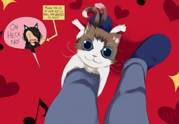Cat and Girl, not Catgirl