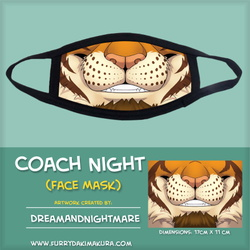 Coach Night Face Mask by DreamAndNightmare