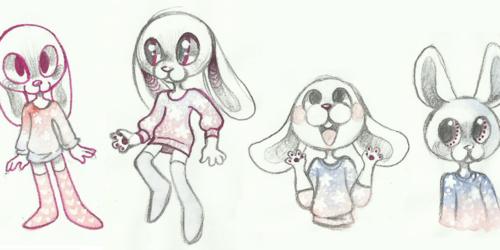 Galaxy shirt rabbits
