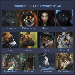 My 2014 Art Summary!