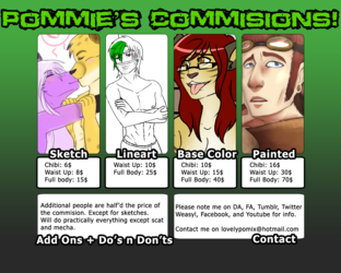 SUMMER COMMISSIONS ARE OPEN