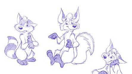 Raccoon and Fox oC doodles