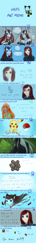 Nyu's Art Meme?! Lorien077 Edition