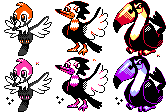 Alolan Birds GSC Sprites