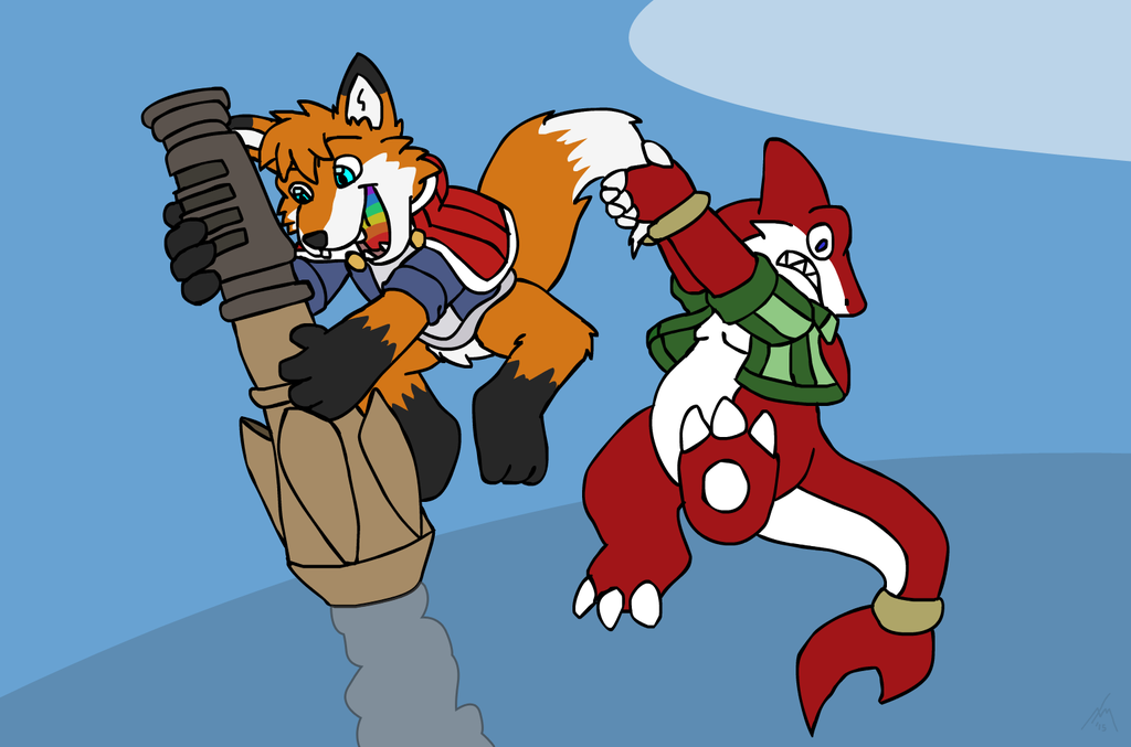 Request for Skittles the Fox - ROCKET JUMP AWAY~!!