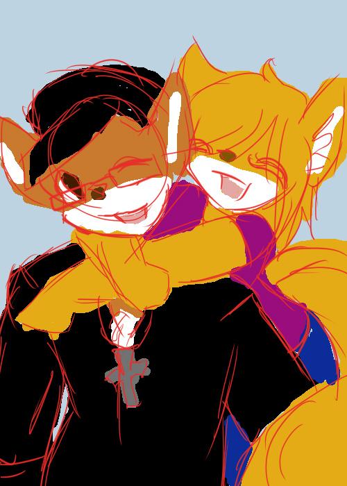 Drew and Kira by vorishwolf