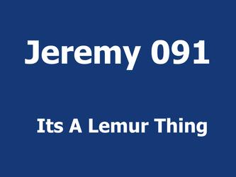 Its A Lemur Thing