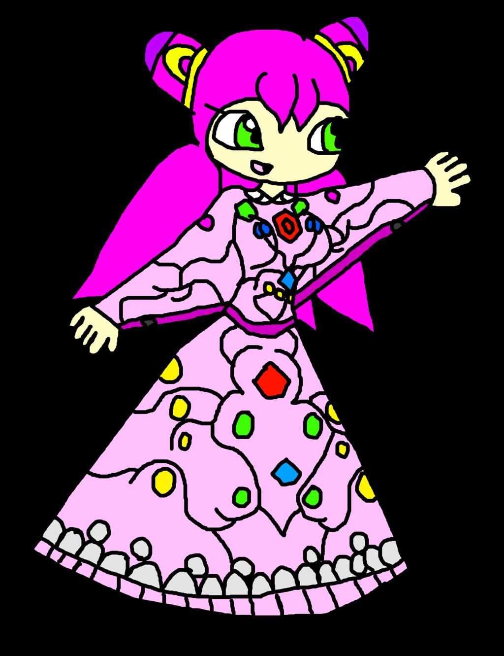 Luna with the Jewel Dress