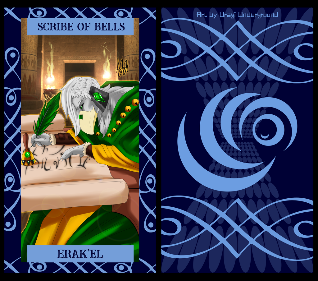 The Uragi Tarot - Scribe of Bells