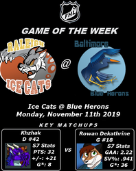 FHL Season 8 Game of the Week #2: Ice Cats @ Blue Herons