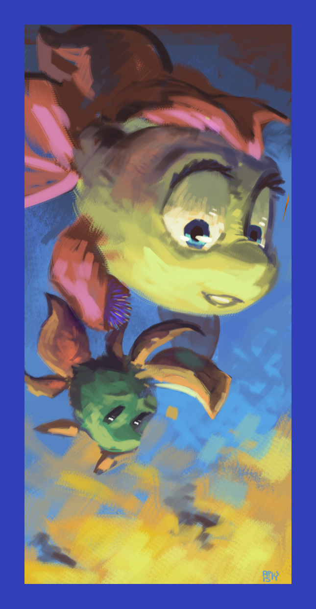 Most recent image: Freddi Fish & Luther