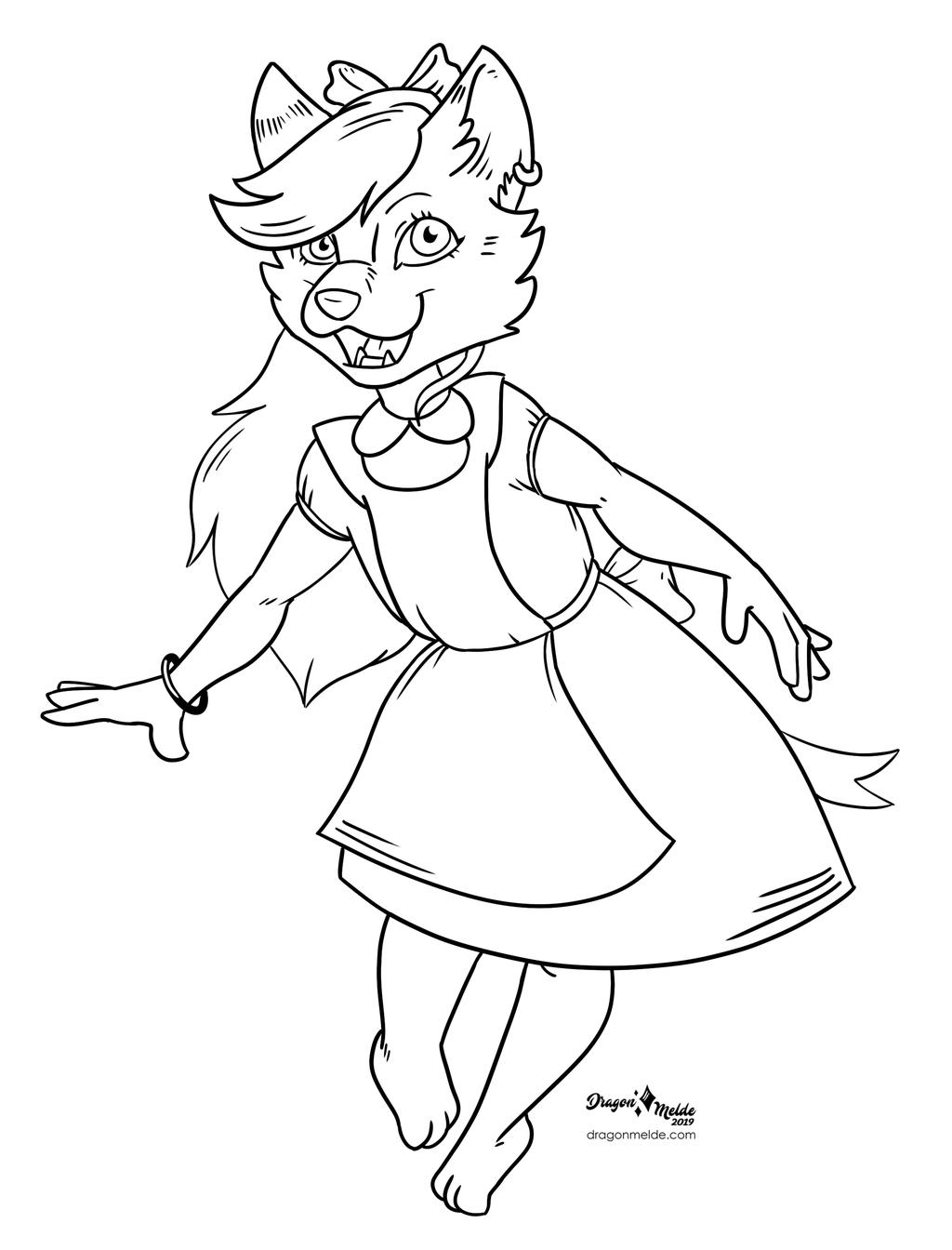 Inktober Commission 21- Alice in Wonderland