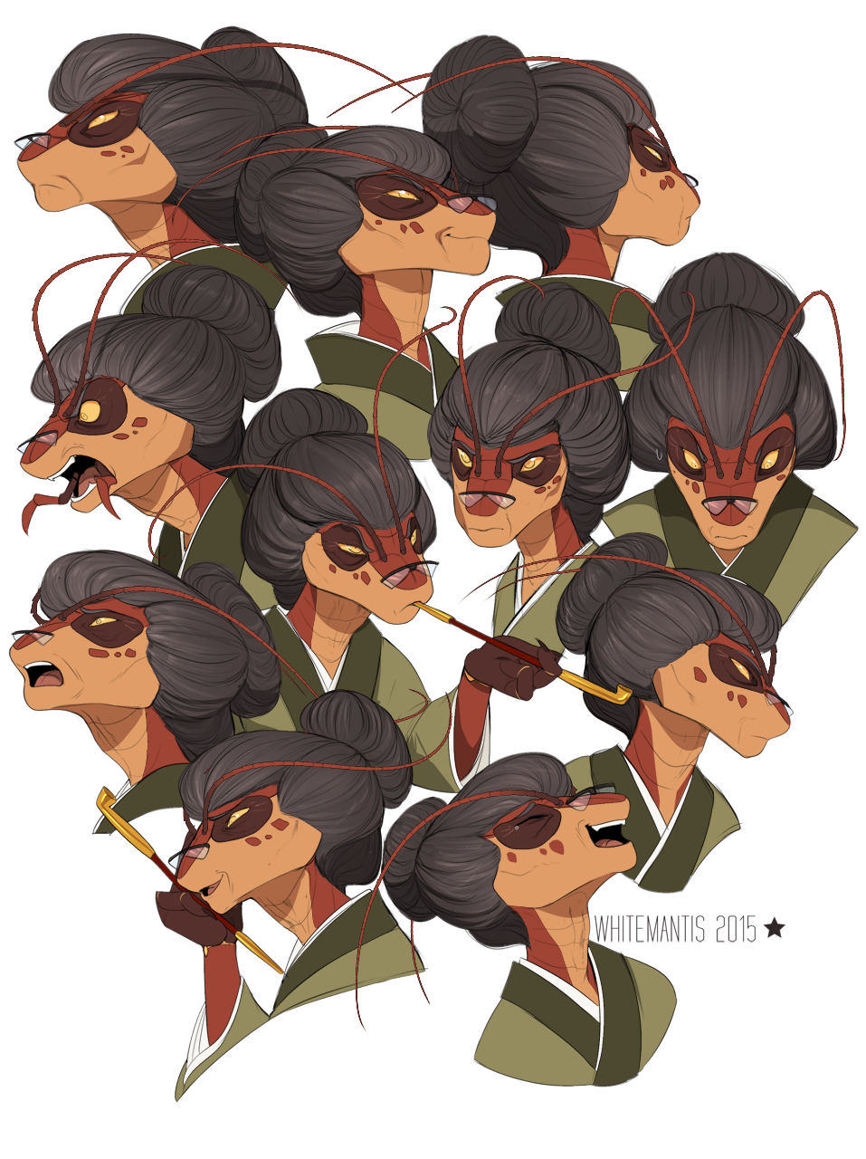 Blade Under Mask: Asami Expressions