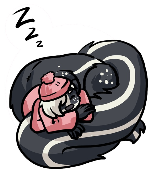 Juniper Napping -- gift art by merlin-the-bruce