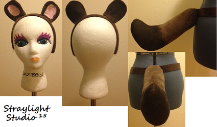 COMMISSION: Tanuki Tail and Ears