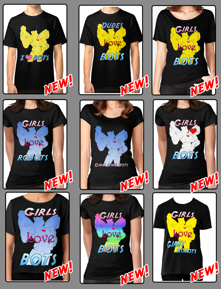 New Designs: Loves Robots Shirts !