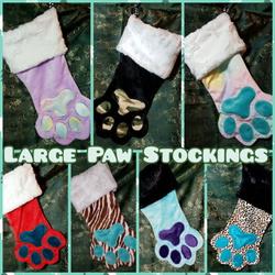 Large Paw Stockings