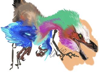 velociraptor  speedpaint
