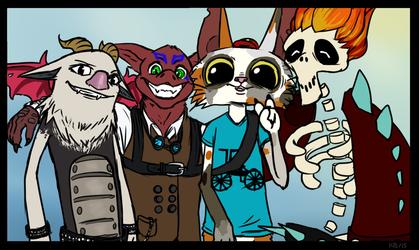 [C] A diverse cast