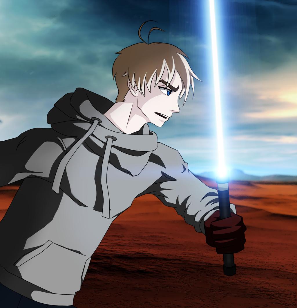 The Shepherd in the Desert (Star Wars fan-art)