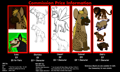 Commision Price Sheet -Updated-