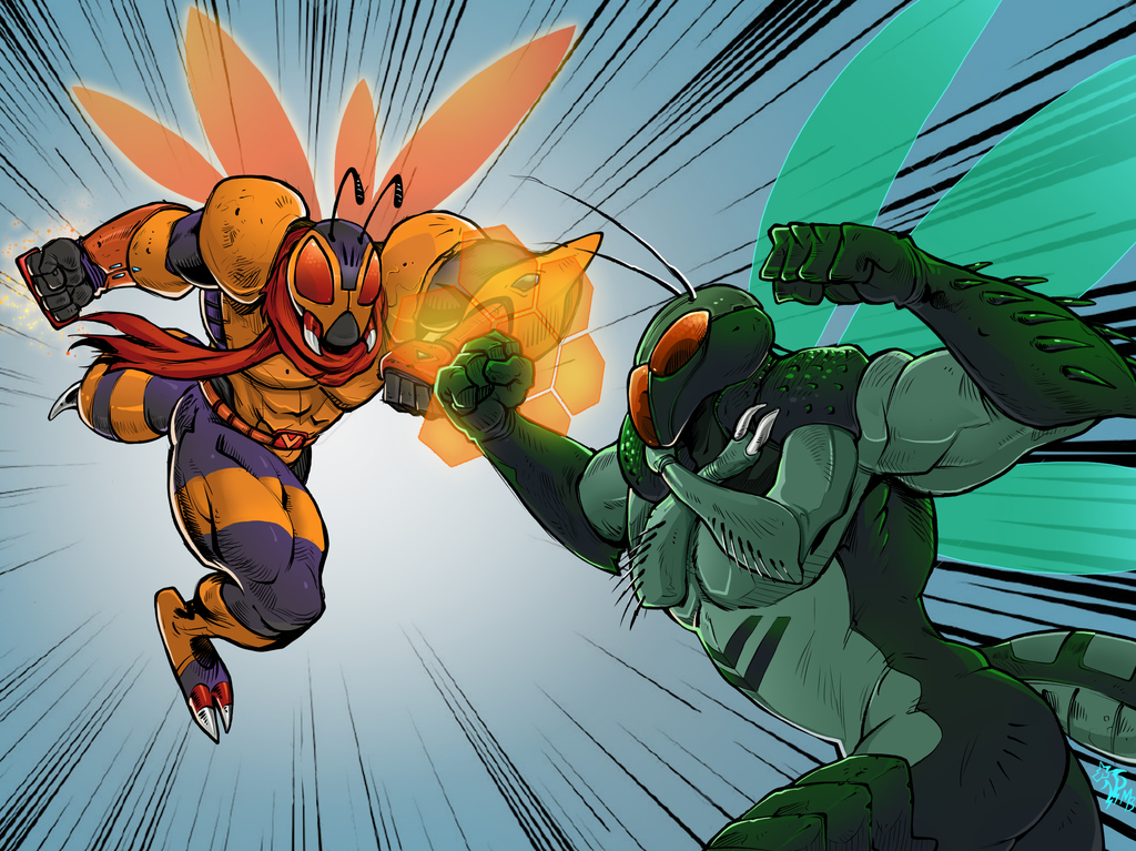 Most recent image: Dynamic Clash! DynaWasp vs The Locust (Vaughn)