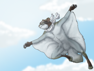 Flying squirrel [by Clipey]