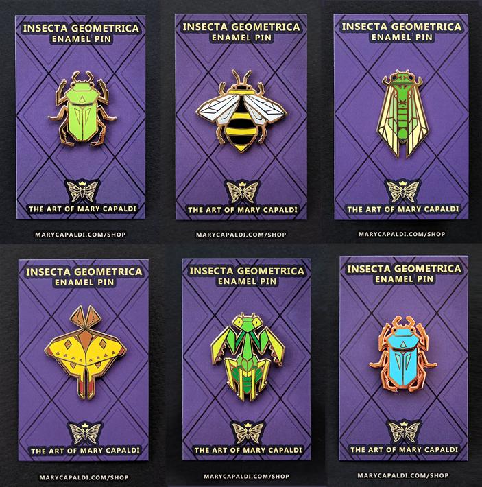 Insecta Geometrica Enamel Pins!