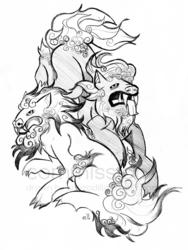 Commission - Fu Dogs