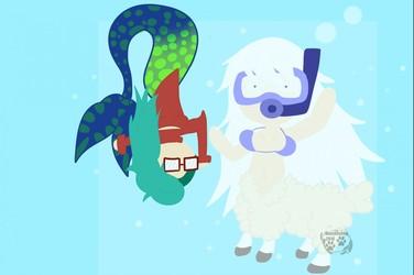 Sheep tuars don't swim...
