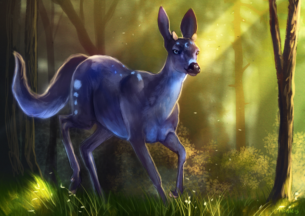 Speedpaint - Blue Stag