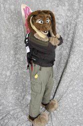 Skuff, in snowboard gear