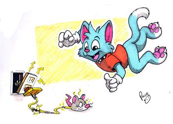 Chasing fake mice