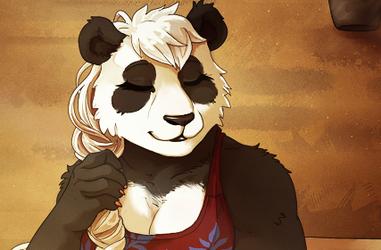 Sunset Panda