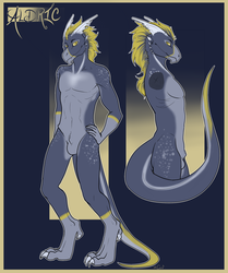 Aldric (commissioned ref sheet)