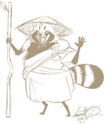 DnD Tanukifolk character: Kou