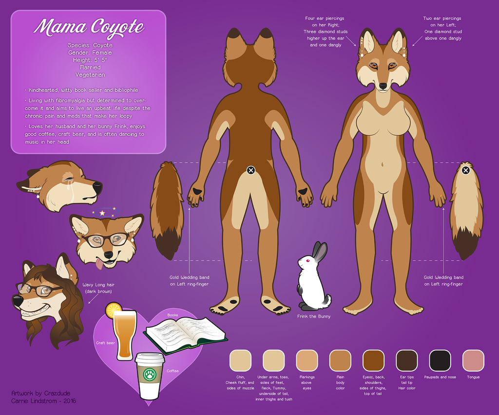 MamaCoyote_18 Reference Sheet Commission