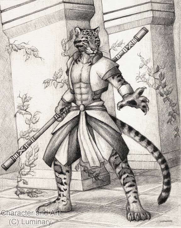 Li Bao: Monk of the Open Paw Sketch - 2011