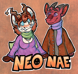 Neo + Nae Couples Badges