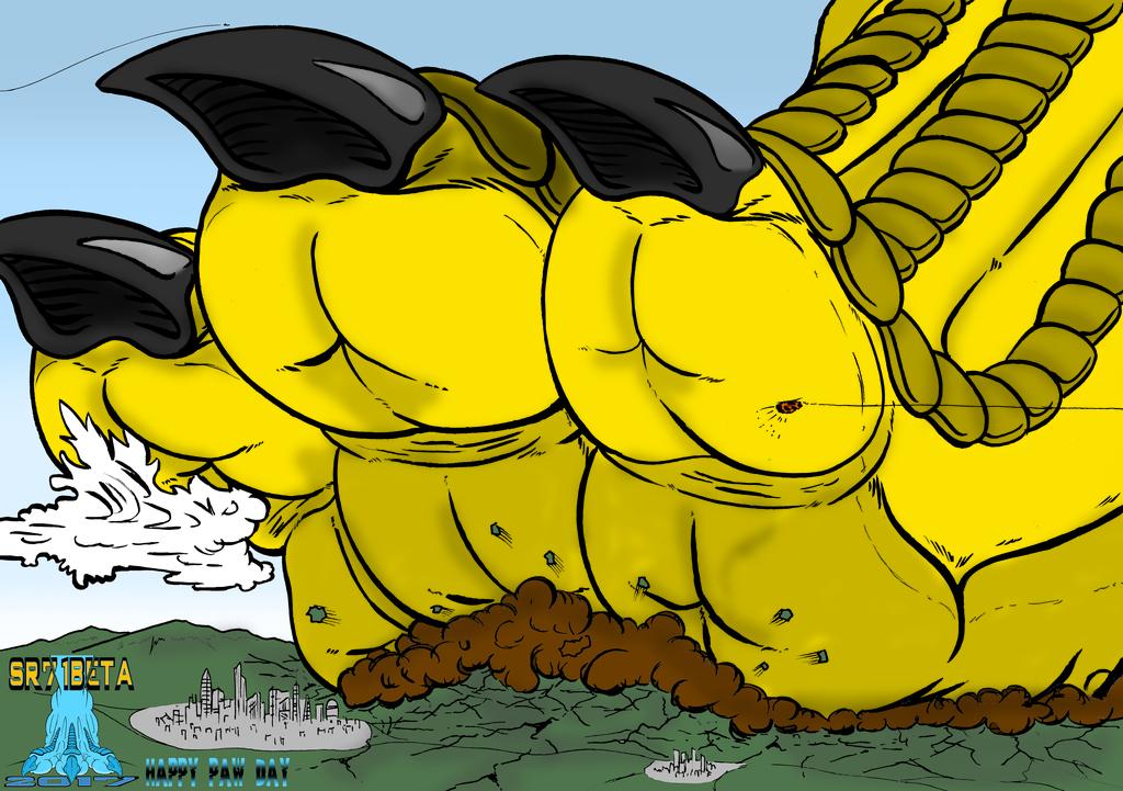 Dragonian Paw goes THOOM