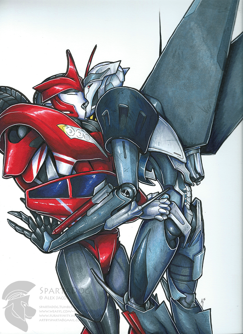 Commission - Starscream x Knockout