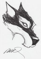 Mr. Wolf (HeadShot Sketch) by Humberto Ramos