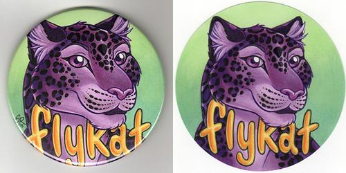 Flykat Button Badge
