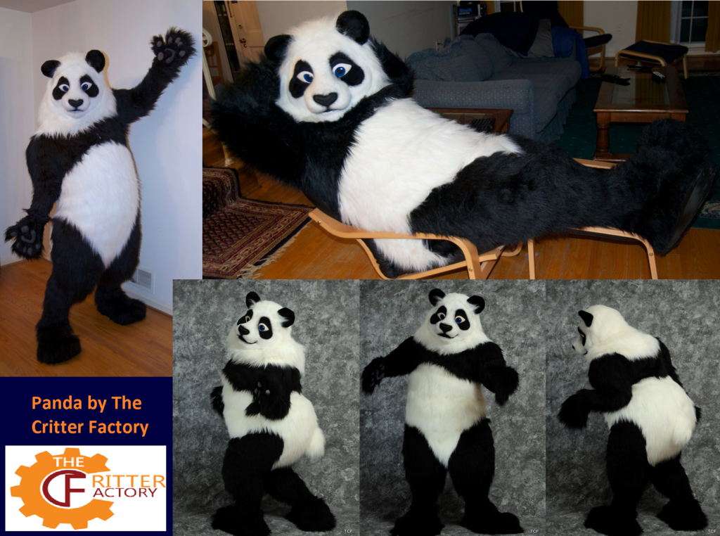 Panda Fursuit from 2 years ago by The Critter Factory