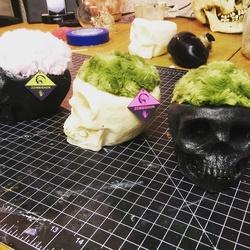 Skull pin cushions