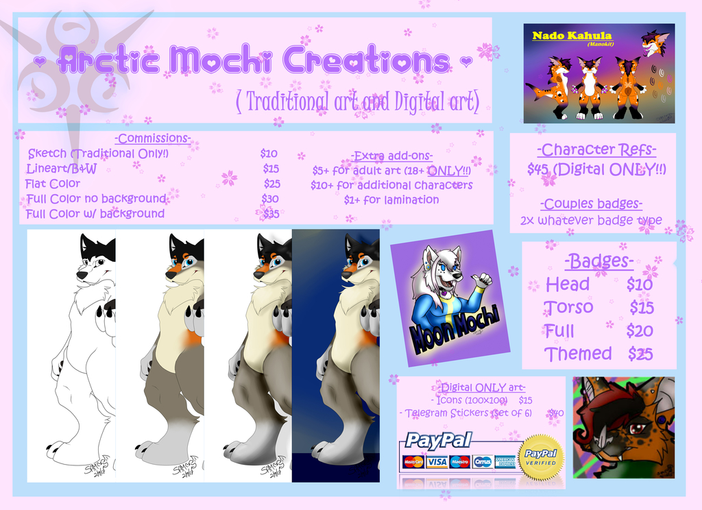 Most recent image: Arctic Mochi Creations - Art Commission Prices