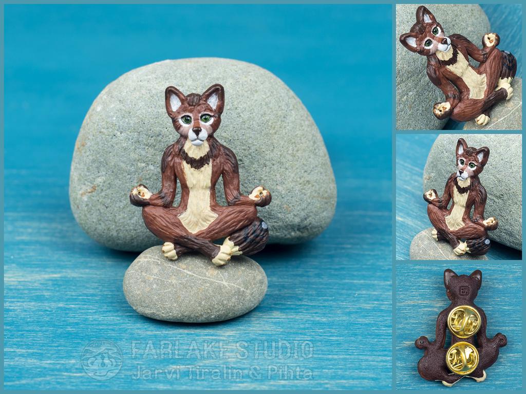 Meditating Pihta full-body pin