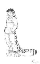 Snow Leopard Character Draft
