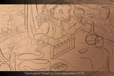 interruption lineart